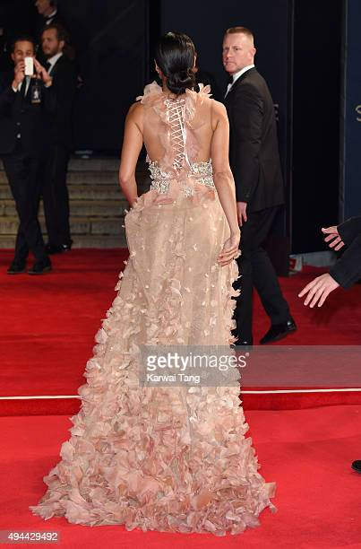 Stephanie Sigman attends the Royal Film Performance of Spectre at the Royal Albert Hall on October 26 2015 in London England