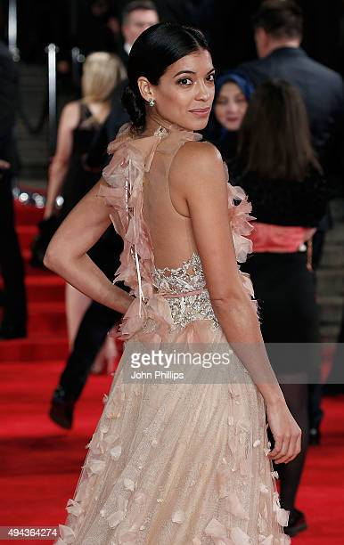 Stephanie Sigman attends the Royal Film Performance of Spectreat Royal Albert Hall on October 26 2015 in London England