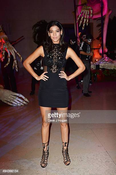Stephanie Sigman attends the Royal World Premiere after party of Spectre at The British Museum on October 26 2015 in London England