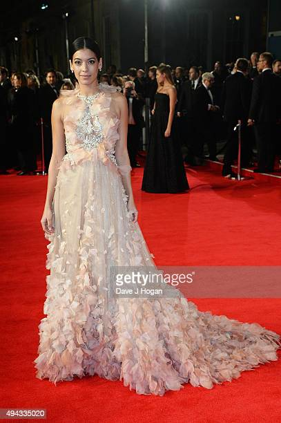 Stephanie Sigman attends the Royal World Premiere of 'Spectre' at Royal Albert Hall on October 26 2015 in London England