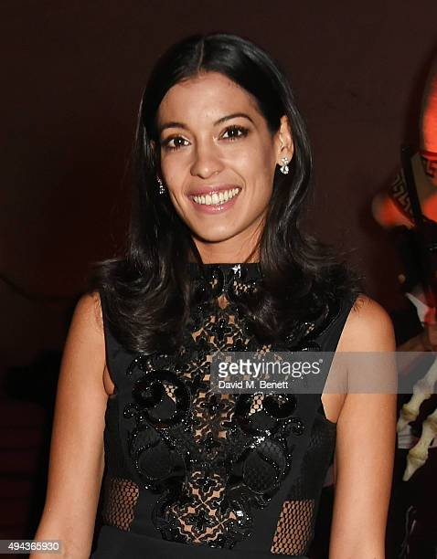 Stephanie Sigman attends the World Premiere after party of Spectre at The British Museum on October 26 2015 in London England