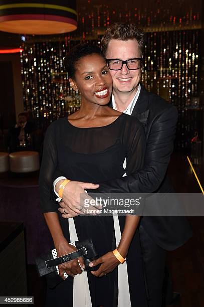 Stephanie Simbeck and actor Florian Simbeck attend the 'Citroen C4 Cactus' Munich Preview at Leonardo Royal Hotel on July 31 2014 in Munich Germany