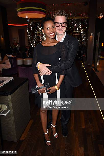 Stephanie Simbeck and actor Florian Simbeck attends the 'Citroen C4 Cactus' Munich Preview at Leonardo Royal Hotel on July 31 2014 in Munich Germany