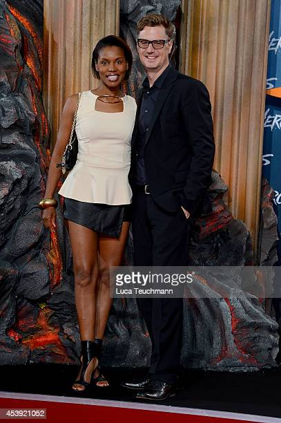 Stephanie Simbeck and Florian Simbeck attend the European premiere of the film 'Hercules' at CineStar on August 21 2014 in Berlin Germany