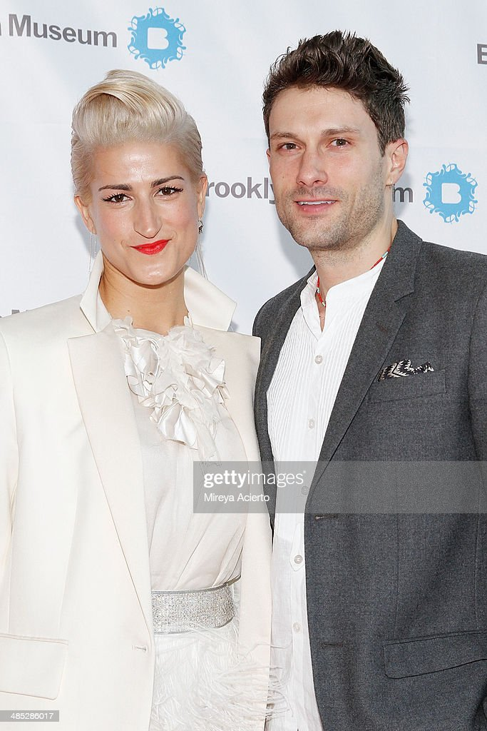 Stephanie Simon and Jimmy Knehans attend the Brooklyn Museum's 4th annual Brooklyn Artists Ball on April 16, 2014 in the Brooklyn borough of New York City.