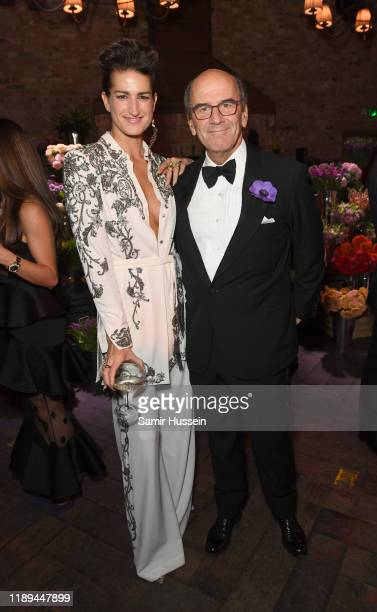 Stephanie Simon and Raffaello Napoleone attend the gala dinner in honour of Edward Enninful winner of the Global VOICES Award 2019 during #BoFVOICES...