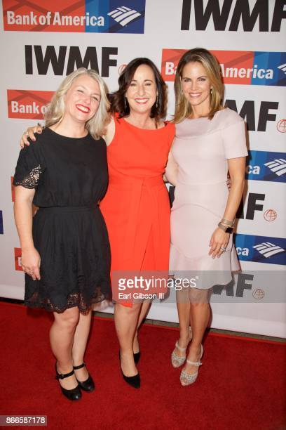 Stephanie Sinclair Elisa Lees Munoz and Natalie Morales attend the International Women's Media Foundation 2017 Courage In Journalism Awards at...