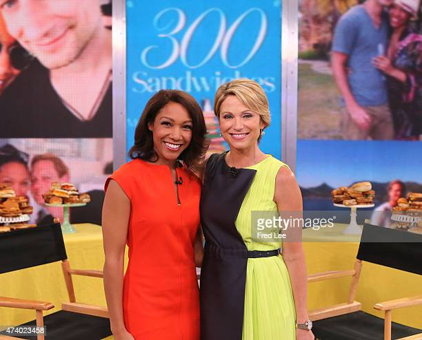 """Stephanie Smith shares her story of """"300 Sandwhiches"""" on """"Good Morning America,"""" 5/19/15, airing on the Walt Disney Television via Getty Images..."""