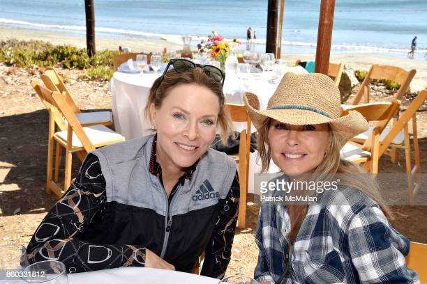 Stephanie Spencer and Tawny Sanders attend Hearst Castle Preservation Foundation Annual Benefit Weekend 'Lunch at the Hearst Ranch Wine Warehouse' at...