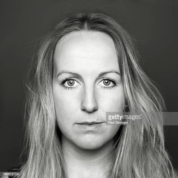 Stephanie, Square Headshot. B/W