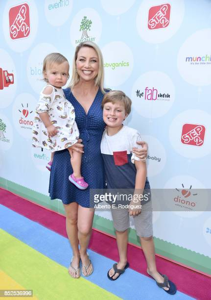 Stephanie Stanton and family at Step 2 Presents 6th Annual Celebrity Red CARpet Safety Awareness Event on September 23 2017 in Culver City California