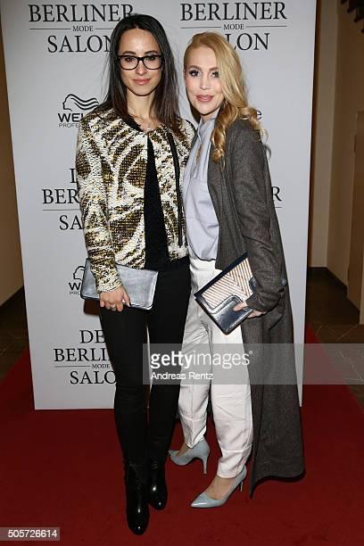 Stephanie Stumph and Alexa Feeser attend the Isabell de Hillerin show as part of Der Berliner Mode Salon during the Mercedes-Benz Fashion Week Berlin...