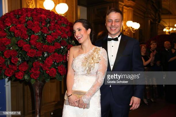 Stephanie Stumph and Tom Wlaschiha during the 14th Semper Opera Ball 2019 at Semperoper on February 1, 2019 in Dresden, Germany.