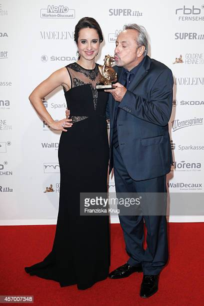 Stephanie Stumph and Wolfgang Stumph attend Madeleine at Goldene Henne 2014 on October 10, 2014 in Leipzig, Germany.
