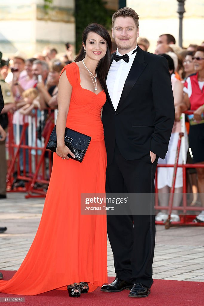 Stephanie Stumph (L) attends Bayreuth Festival Opening 2013 on July 25, 2013 in Bayreuth, Germany.