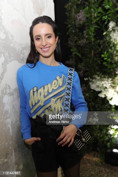 Stephanie Stumph attends the Aigner show at Milan Fashion Week Autumn/Winter 2019/20 on February 22, 2019 in Milan, Italy.