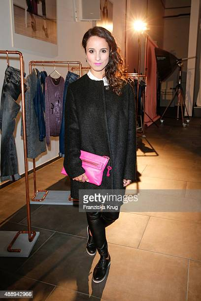 Stephanie Stumph attends the 'La Boum Fashion Studio' by Soccx on September 18, 2015 in Hoppegarten/ Berlin, Germany.