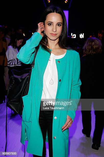 Stephanie Stumph attends the Laurel show during the MercedesBenz Fashion Week Berlin Autumn/Winter 2016 at Brandenburg Gate on January 20 2016 in...