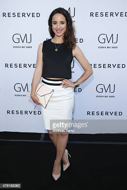 Stephanie Stumph attends the RESERVED - collection preview & seated dinner at upside east on July 1, 2015 in Munich, Germany.