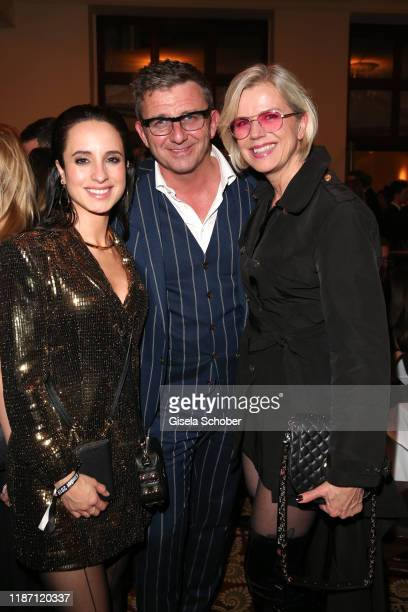 Stephanie Stumph Hans Sigl Susanne Sigl during the after show party for the Ein Herz Fuer Kinder Gala at Borchardt Restaurant on December 7 2019 in...
