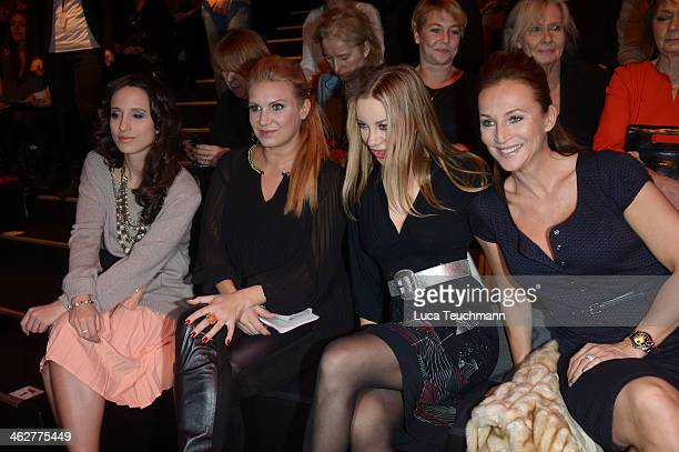 Stephanie Stumph Magdalena Brzeska Xenia Seeberg and Caroline Beil attend the Minx by Eva Lutz show during MercedesBenz Fashion Week Autumn/Winter...