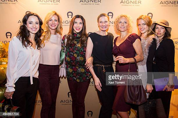 Stephanie Stumph Paula Vazquez CEO Aigner of Sibylle Schoen Katja Riemann Paula Riemann and Jana Pallaske attend the AIGNER store opening party on...