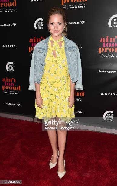 Stephanie Styles attends the Opening Night of Ain't Too Proud The Life And Times Of The Temptations at the Ahmanson Theatre on August 24 2018 in Los...