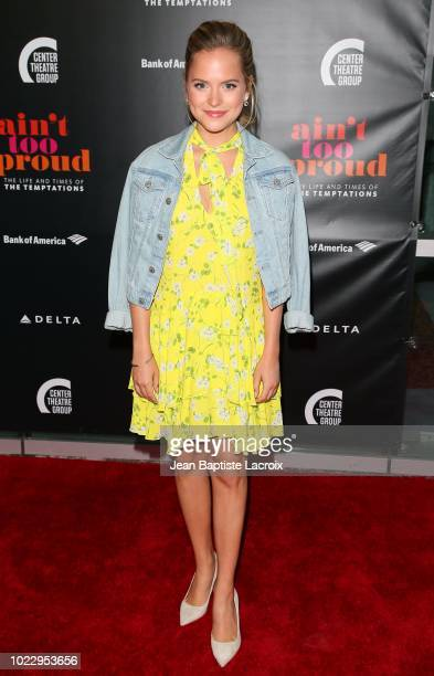 Stephanie Styles attends the Opening Night of 'Ain't Too Proud The Life And Times Of The Temptations' at the Ahmanson Theatre on August 24 2018 in...