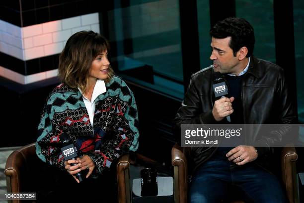 Stephanie Szostak and Ron Livingston attend the Build Series to discuss 'A Million Little Things' at Build Studio on September 25 2018 in New York...