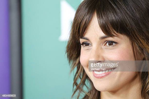 Stephanie Szostak arrives at the NBCUniversal's 2014 Summer Press Day held at Langham Hotel on April 8 2014 in Pasadena California