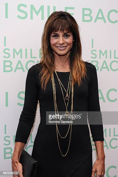 Stephanie Szostak attends I Smile Back New York Premiere at Museum of Modern Art on October 13 2015 in New York City
