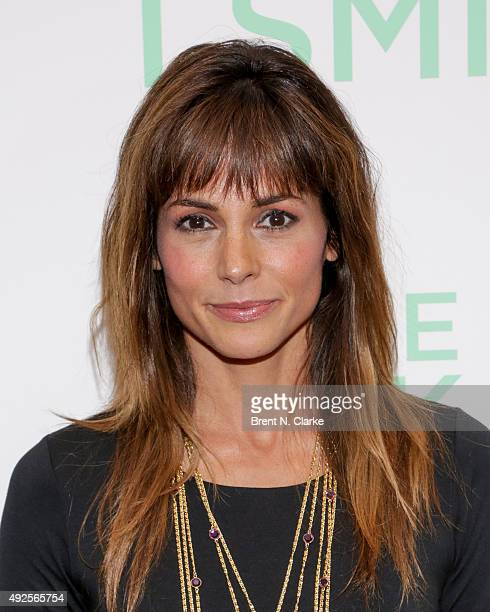 Stephanie Szostak attends the I Smile Back New York Premiere held at the Museum of Modern Art on October 13 2015 in New York City