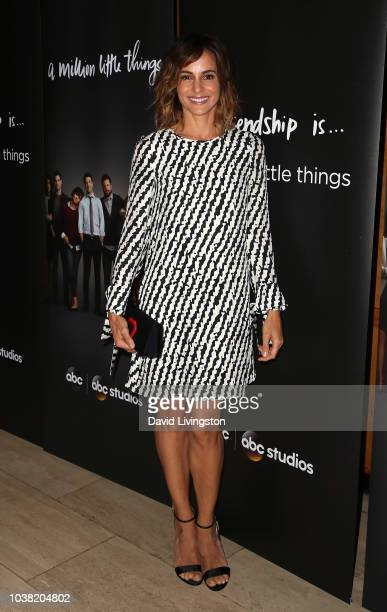 Stephanie Szostak attends the premiere of ABC's A Million Little Things at LACMA on September 22 2018 in Los Angeles California