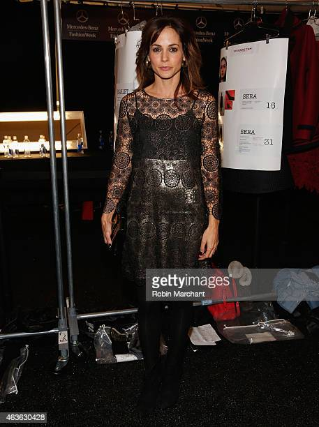 Stephanie Szostak attends Vivienne Tam at The Theatre at Lincoln Center on February 16 2015 in New York City