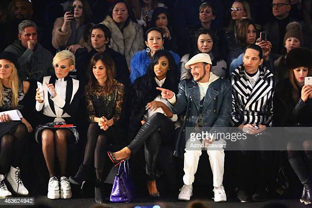 Stephanie Szostak Porsha Stewart and Phillip Bloch attend the Vivienne Tam fashion show during MercedesBenz Fashion Week Fall 2015 at The Theatre at...