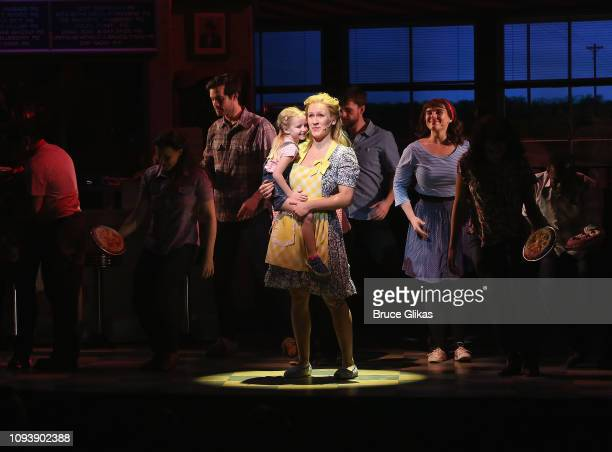 Stephanie Torns as Jenna in the hit musical Waitress on Broadway at The Brooks Atkinson Theatre on February 4 2019 in New York City