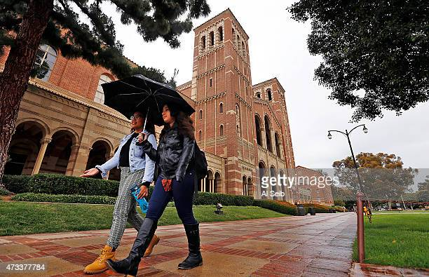 Stephanie Tuazon and Leena Richman left to right students at the UCLA campus on May 14 2015 as California students at the University of California...