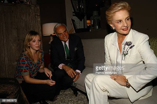 Stephanie Turner Vincenzio PerezSoto and Carolina Herrera attend Book Signing for Carolina Herrera at Nathan Turner on October 20 2005 in West...