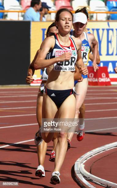 Stephanie Twell of Great Britain competes during the women's 3000m during day one of the Spar European Team Championship at the Estadio Municipal...