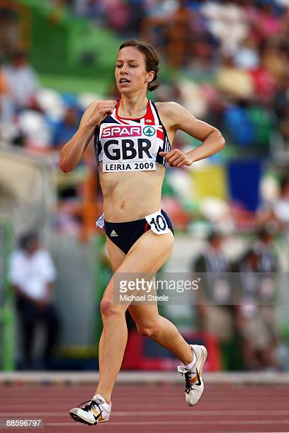 Stephanie Twell of Great Britain in action during the women's 3000m during day one of the Spar European Team Championships at the Estadio Municipal...