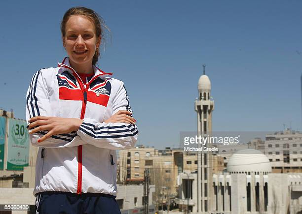 Stephanie Twell of Great Britain takes in the sites ahead of the 37th IAAF World Cross Country Championships at the Bisharat Golf Club on March 27...