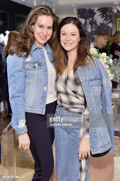 Stephanie Unwin and April Hennig attend Veronica Beard LA Store Opening on February 21 2018 in Los Angeles California