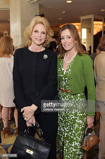 Stephanie Vahn and Alexander Donnelly attend MOCA's 9th Awards To Distinguished Women In The Arts at Regent Beverly Wilshire Hotel on October 28 2015...