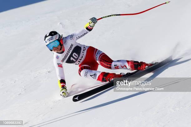 Stephanie Venier of Austria competes during the Audi FIS Alpine Ski World Cup Women's Super G on December 8 2018 in St Moritz Switzerland