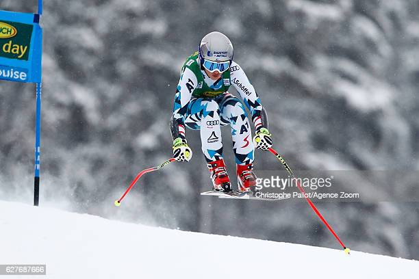 Stephanie Venier of Austria competes during the Audi FIS Alpine Ski World Cup Women's SuperG on December 4 2016 in Lake Louise Canada