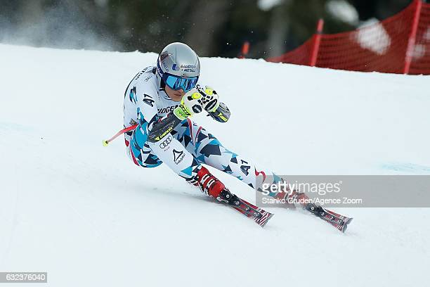 Stephanie Venier of Austria competes during the Audi FIS Alpine Ski World Cup Women's SuperG on January 22 2017 in GarmischPartenkirchen Germany