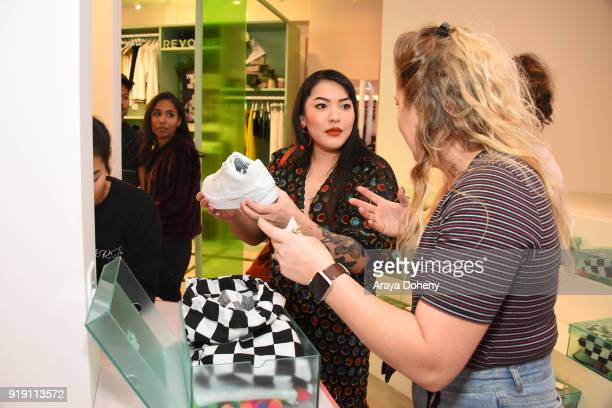 Stephanie Villa attends the Flaunt Magazine Dinner with Nike and Revolve on February 15 2018 in Los Angeles California