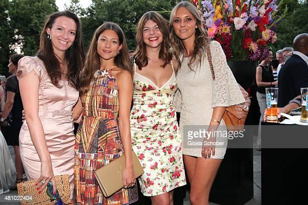 Stephanie von DaemmrichLuttitz Eileen Lienau Julia Tewaag Valentina Henkel during the New Faces Award Fashion 2015 on July 16 2015 at P1 in Munich...