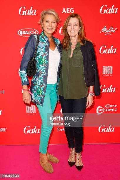 Stephanie von Pfuel and Andrea Schoeller attend the Gala Fashion Brunch during the MercedesBenz Fashion Week Berlin Spring/Summer 2018 at Ellington...