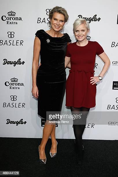 Stephanie von Pfuel and Barbara Sturm attend the Basler fashion show on February 1 2014 in Dusseldorf Germany